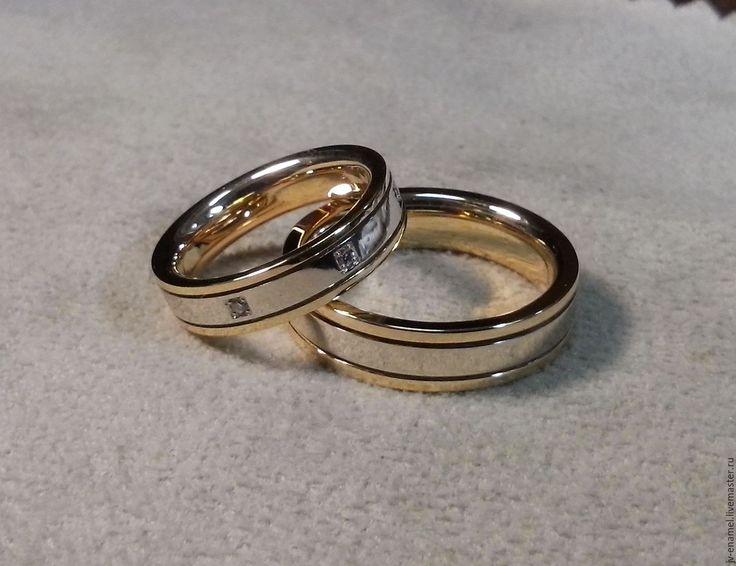 Купить Обручальные кольца - золотой, свадебные аксессуары, обручальные кольца, ювелирные украшения, бриллианты