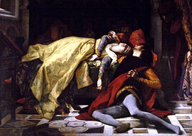 "Alexandre Cabanel, ""La morte de Francesca da Rimini et de Paolo Malatesta"", oil on canvas, 1870."