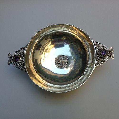 Irish silver center piece