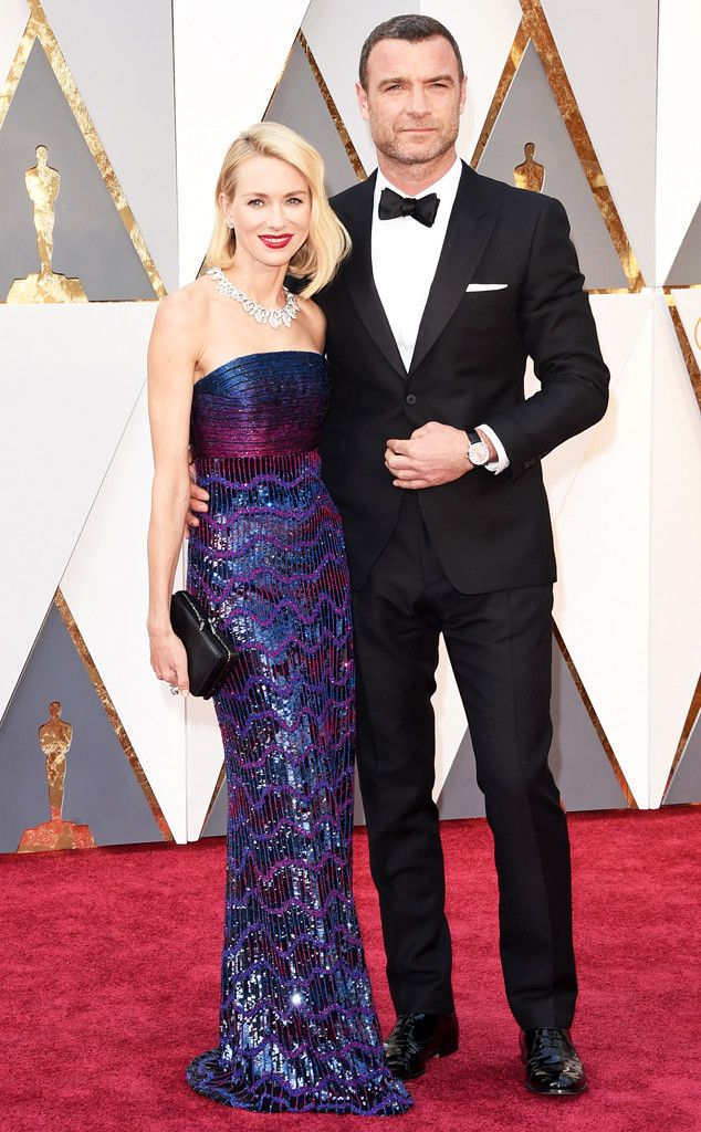 Naomi Watts & Liev Schreiber from Couples at the 2016 Oscars | E! Online