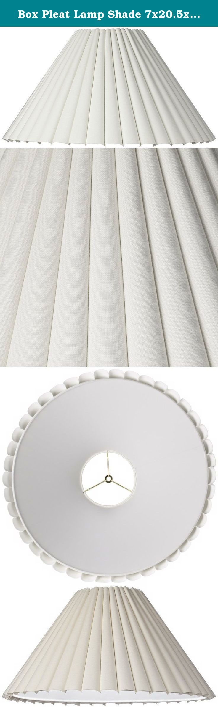 Table lamp harp sizes - Box Pleat Lamp Shade 7x20 5x12 5 Spider This Antique White
