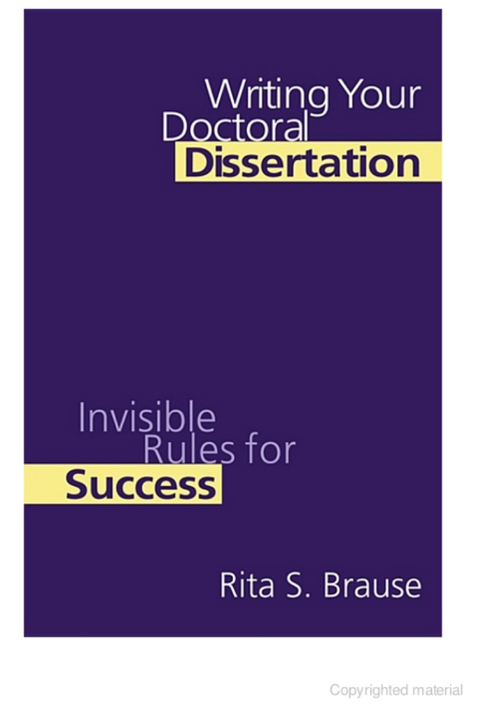 Doctoral dissertation writing service invisible rules for success