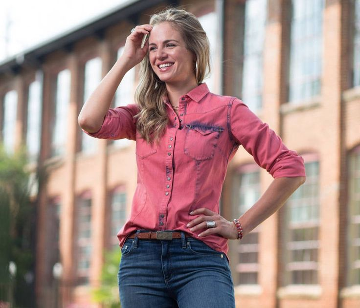 Allens Boots Women's Ryan Michael Tinted Indigo Shirt #T1829TD