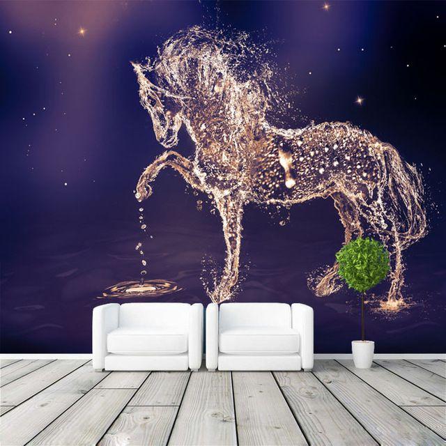 Fantasy Horse Photo Wallpaper Custom Wall Mural Charming Galaxy Wallpaper Wall Art Bedroom Gir Girls Room Wallpaper Bedroom Wallpaper Galaxy Children Room Girl