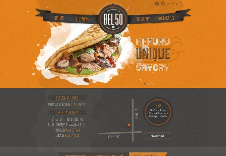 15+ food and restaurant web designs | Webdesigner Depot