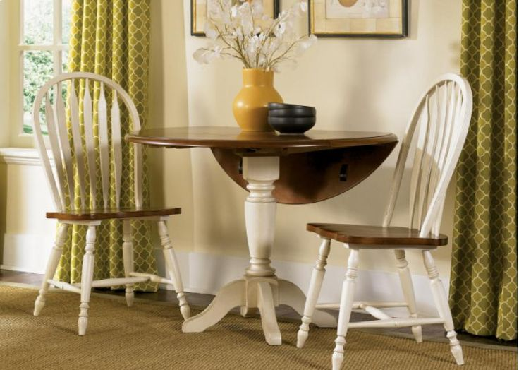Drop Leaf Table Set With Windsor Chairs