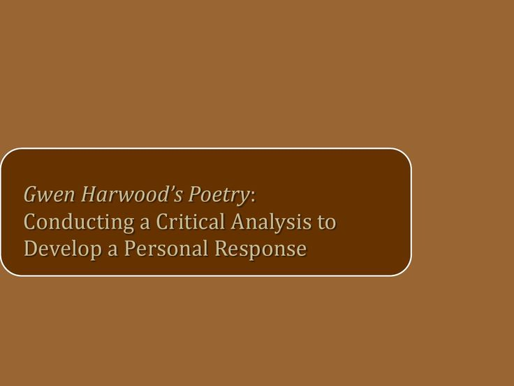 gwen harwood peotry father and child analysis Gwen harwood's poem father and child comprises of two separate parts that compliment each other in highlighting changes that have occurred gwen harwood analysis of all 6 poems/readings просматривайте этот и другие пины на доске gwen harwood пользователя teacher pride.
