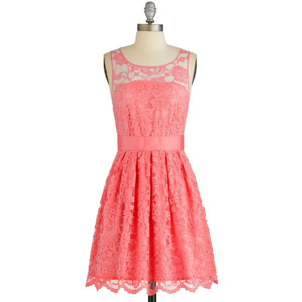 BB Dakota Mid-length Sleeveless A-line When the Night Comes Dress (£34) ❤ liked on Polyvore featuring dresses, vestidos, apparel, coral, red bridesmaid dresses, sleeveless cocktail dress, homecoming dresses, cocktail dresses and red homecoming dresses