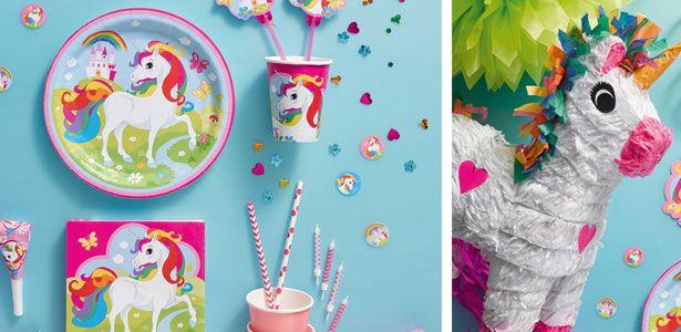 Idee festa di compleanno Unicorno arcobaleno per bambine - VegaooParty