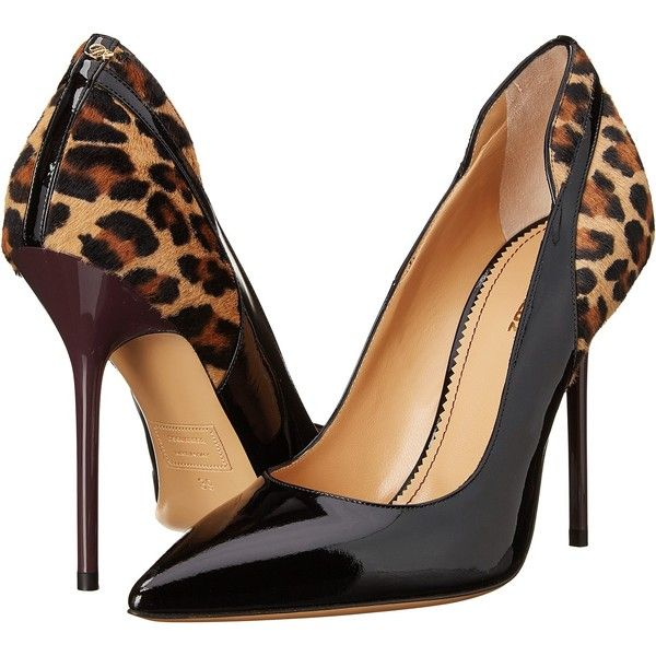 Go wild in style with the Dsquared2 Pony Pump. Leather upper with calf hair and animal print panel. Slip-on construction. D charm at heel. Pointed toe. Soft le…: