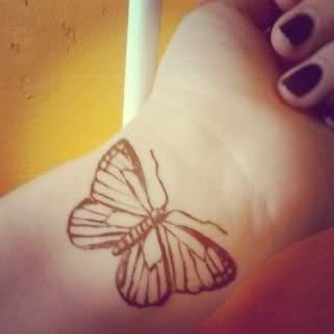 Don't want on wrist, but very cool butterfly | 55 Best And Cool Wrists Tattoos For Girls