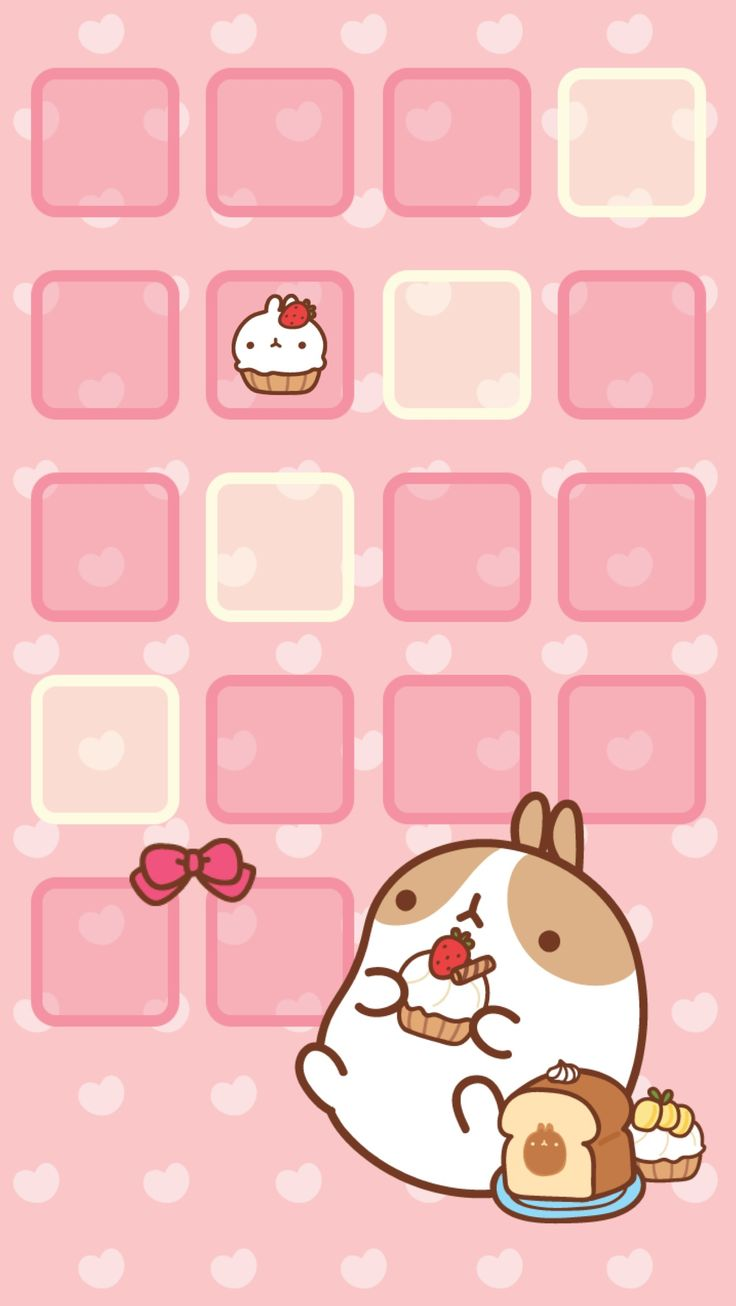 Molang Cupcake Home Screen Kawaii Pinterest Home
