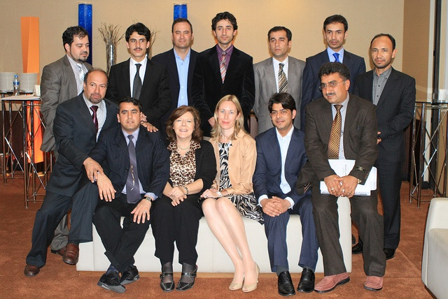 Spokespeople from the government of Afghanistan on a training course with Pinnacle in Dubai.