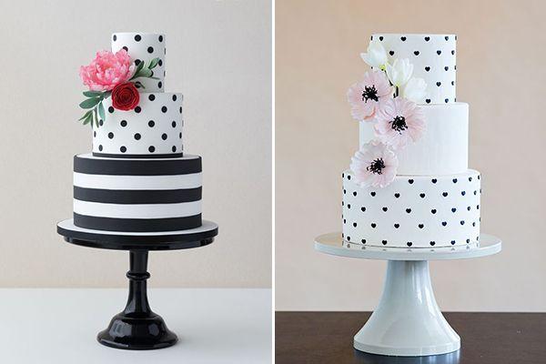 12 ideias de bolo em preto e branco
