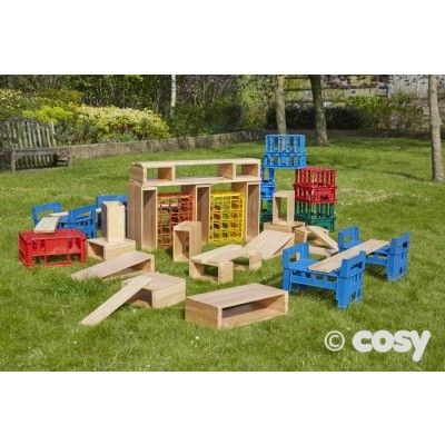 PLASTIC CRATES ONLY (14PK) - Loose Parts - Early Years - Cosy Direct