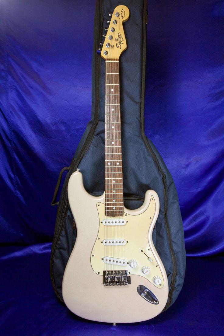 Custom Fender Squire Bullet Series 94 Stratocaster & Case Pro Setup New Strings