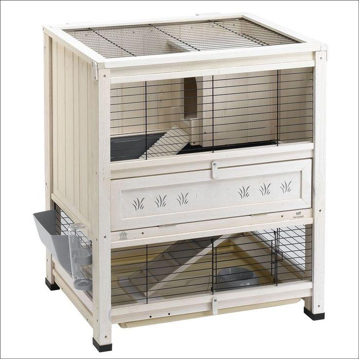 petit clapier d 39 int rieur cottage en bois 77 5x59x90cm pour nos amis les animaux. Black Bedroom Furniture Sets. Home Design Ideas