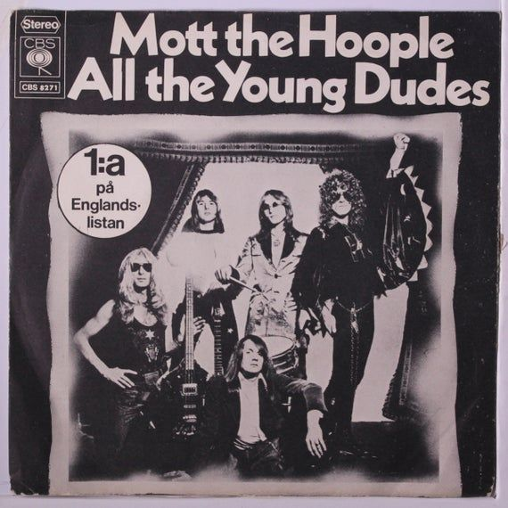 Mott The Hoople All The Young Dudes Miniature Poster With Black Card Frame Mott The Hoople All The Young Dudes Hoople