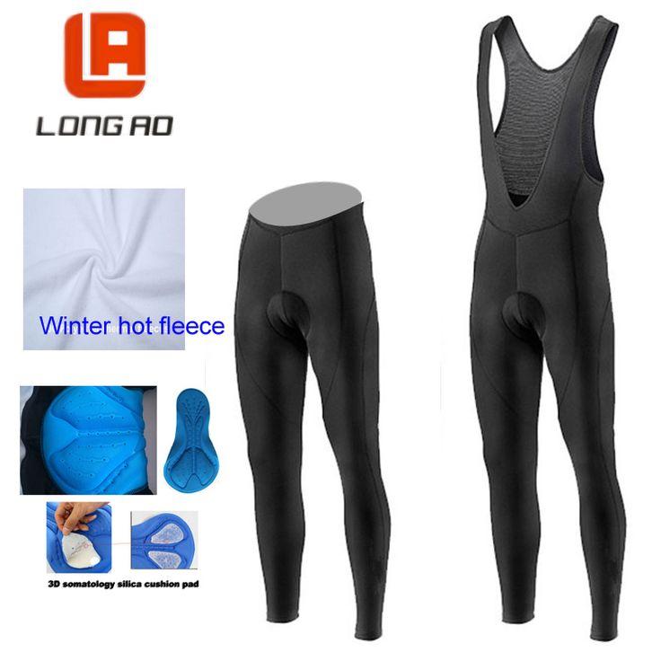 ==> [Free Shipping] Buy Best LONGAO 2016 Winter hot fleece cycling jersey long pants and cycling bib pants cycling kits strap Men Cycling Pants Mtb Online with LOWEST Price   32751791833