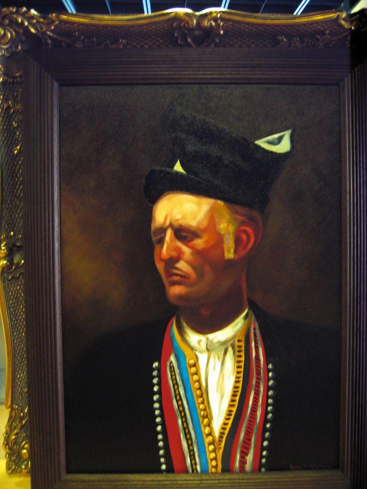 """ Slagsbror "" by Olaf W. Isaachsen, a Norwegian painter ( 1835-1893 )  Oil painting copy  by Nansy N. Pedersen"