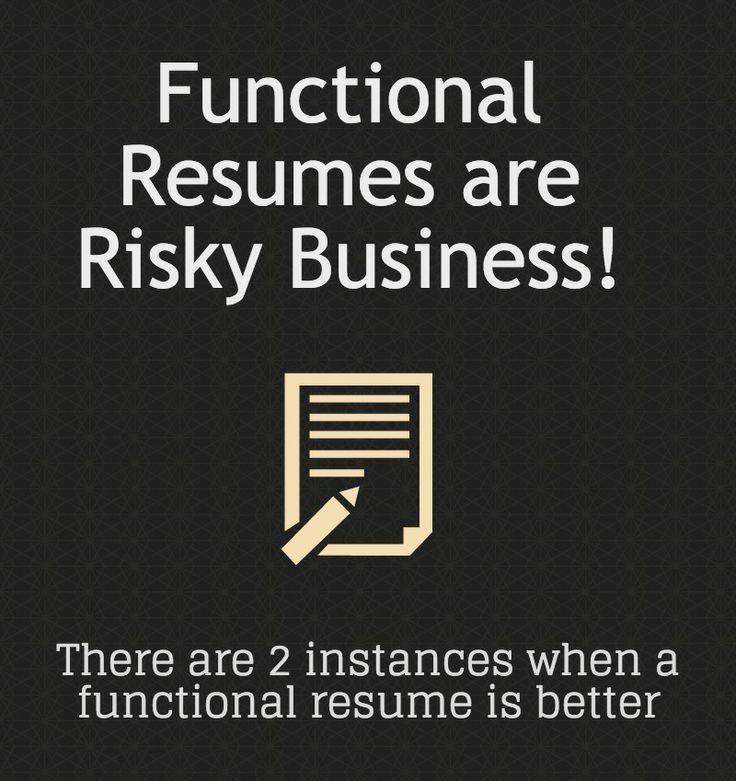 7 best Functional Resume Template images on Pinterest Functional - 4 types of resumes