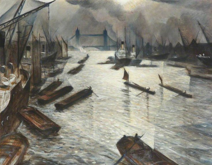 Christopher Nevinson - Bridge from the Pool of London, 1939