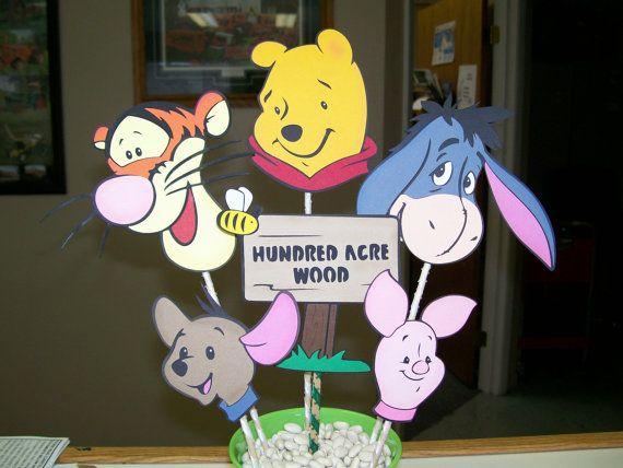 Winnie the Pooh Birthday Party Centerpiece on Sale by CSCuteCrafts, $23.00