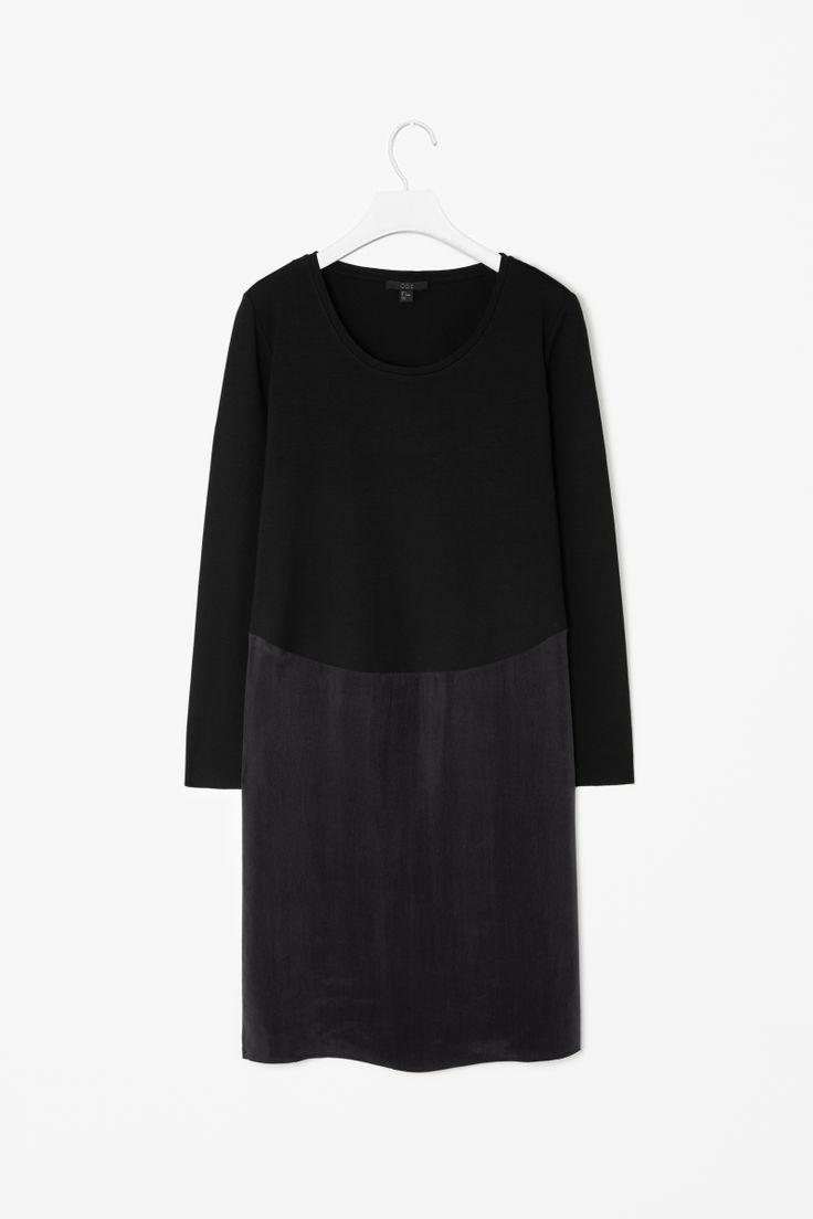 Little black dress COS Jersey and cupro dress