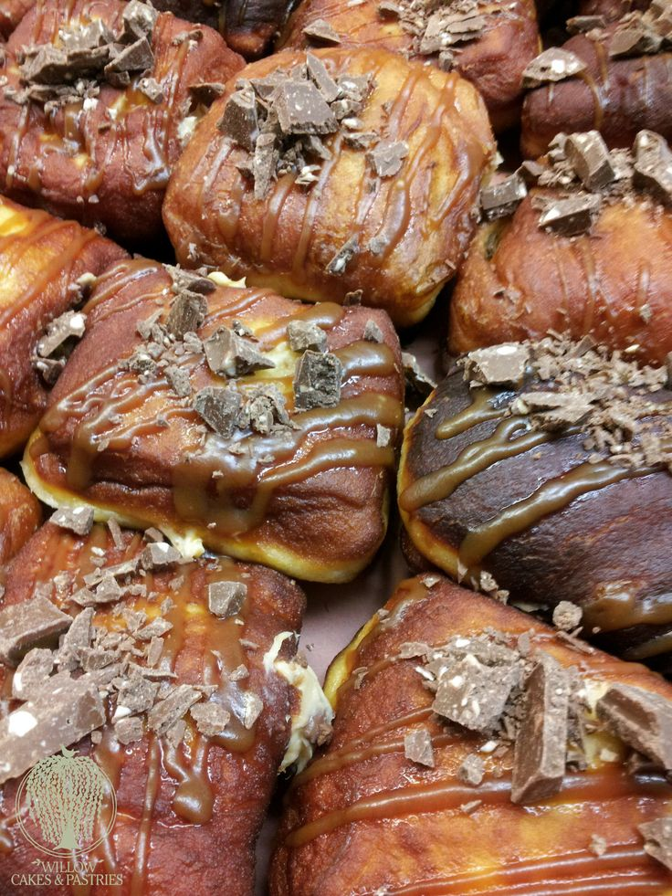 Our famous toblerone peanutbutter cheesecake donuts