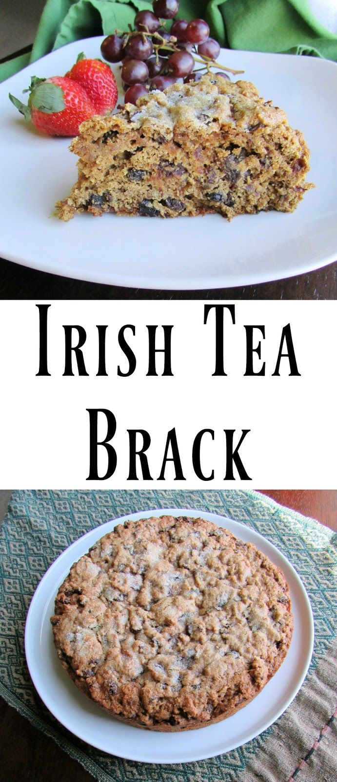 This Irish Tea Brack is a delicious tea time treat or breakfast slice.  It is full of fruit and whole grains for a filling treat as well.  Perfect for #StPatricksDay