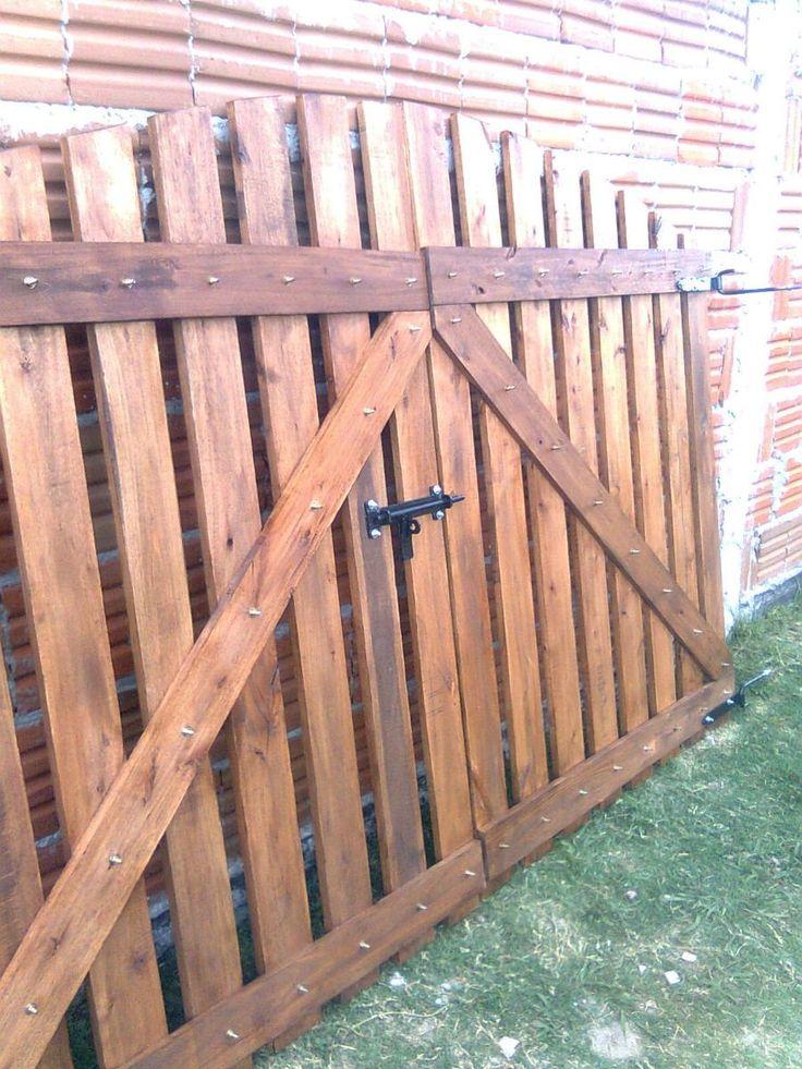 M s de 25 ideas incre bles sobre portones de madera for Modelos de portones de hierro y madera