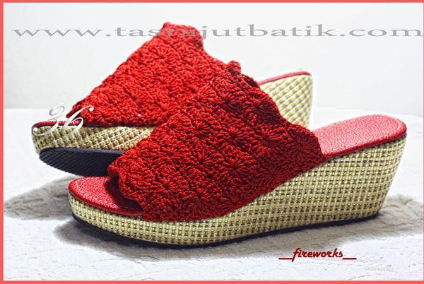Sepatu Rajut FIREWORKS red by TRISAN