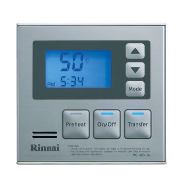 Hot Water System Deluxe Kitchen Controller - Rinnai Australia