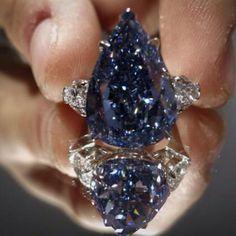 The Perfect Blue Diamond - a 13.22 carat Flawless Vivid Blue Diamond auctioned…