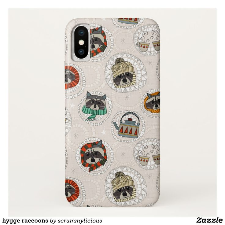 hygge raccoons iPhone x case