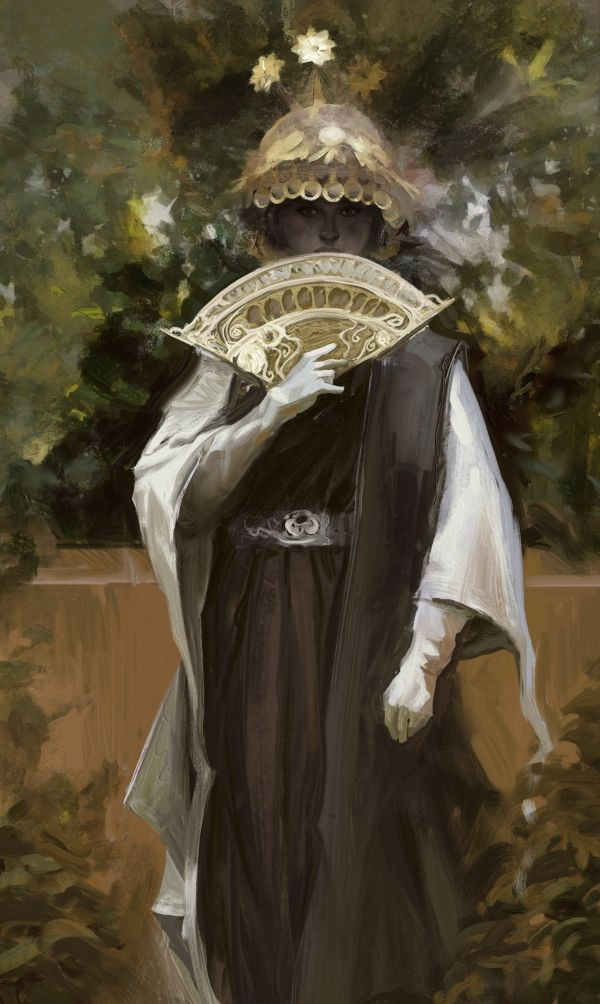 Fan girl by Efflam Mercier   Fantasy   2D   CGSociety