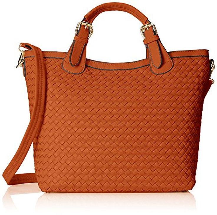 MG Collection Tatiana Designer Woven Tote Hang Bag Shoulder Bag