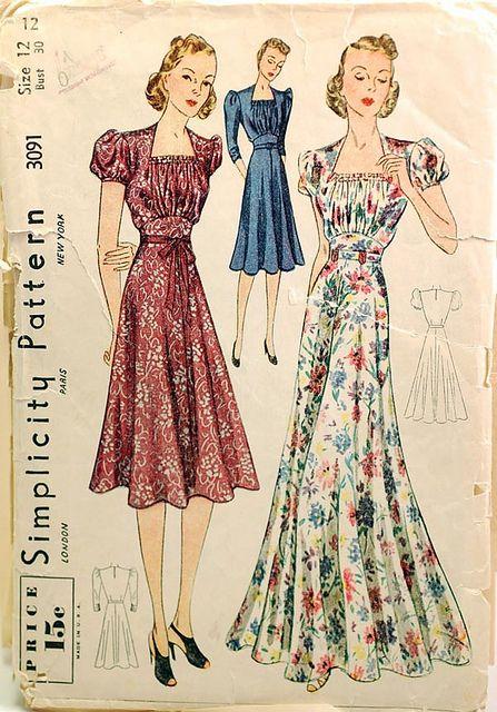 Best 25  Vintage dress patterns ideas on Pinterest | Vintage ...