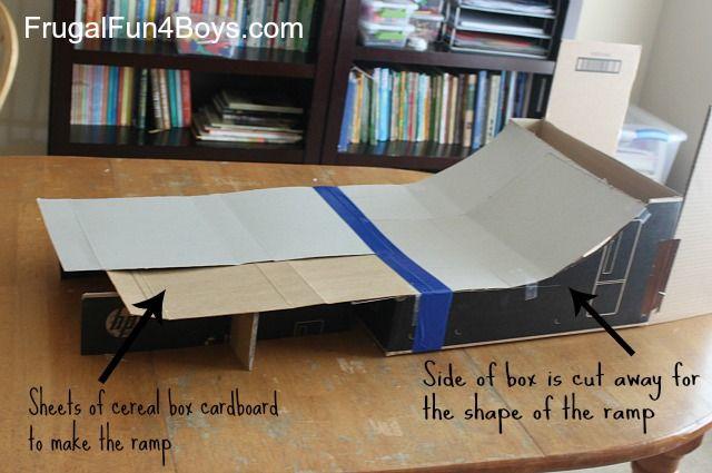 DIY Cardboard Box Skee Ball Game