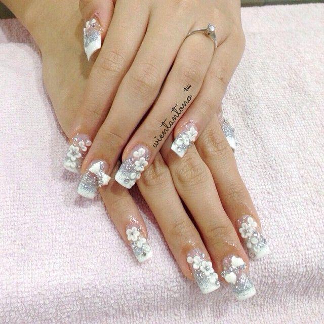 #bridal Nail Art Designs French #bridal Nails 2017 #bridal Nails Pinterest  #gorgeous