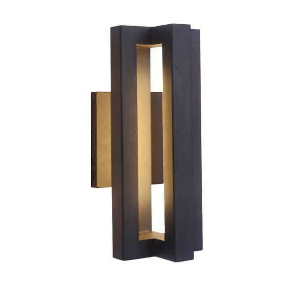 Grundy Integrated Led Outdoor Armed Sconce Led Outdoor Wall Lights Outdoor Sconces Modern Exterior Lighting