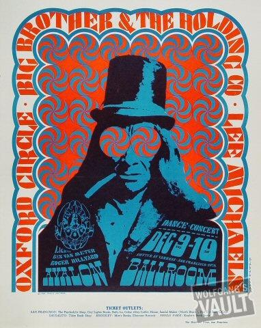 Big Brother and the Holding Company Poster, Avalon Ballroom (San Francisco, CA) Dec 9, 1966