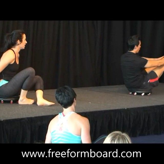 Pilates Teaser with Brad Leeon and Taryn Polovin Sher at FILEX #freeformboard #pilates #bradleeon