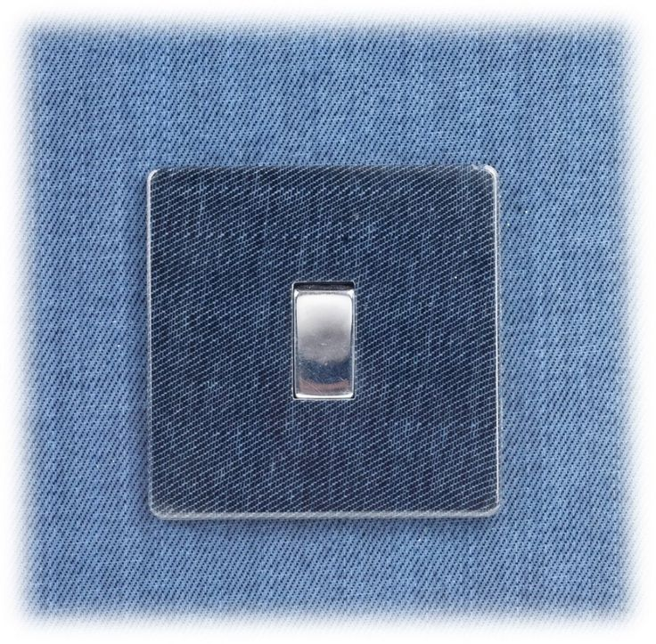 Our Denim Lightswitch, the perfect addittion to spice up the traditional.