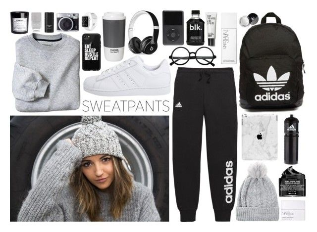 """""""Relax with Sweatpants!!"""" by marinak06 ❤ liked on Polyvore featuring Chanel, adidas, adidas Originals, NARS Cosmetics, Casetify, Peter Thomas Roth, H&M, Nails Inc., Tom Ford and Beats by Dr. Dre"""
