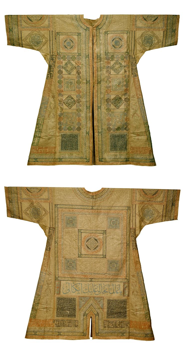 Ottoman talismanic shirt (Jama) with extracts from the Qur'an and prayers.  Turkey, 16th / 17th century