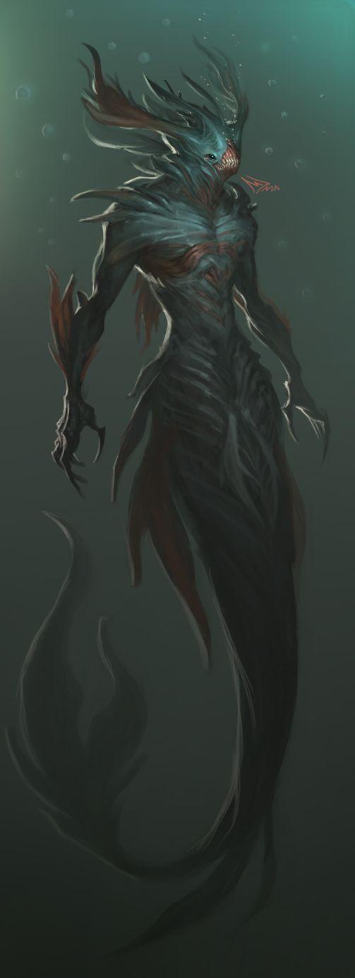 88 best Merfolk & Sea Monsters images on Pinterest ...