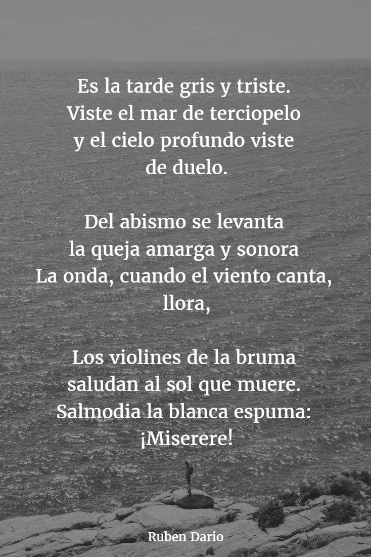 Poemas De Ruben Dario 12 Poemas Largos Poemas Famosos Poemas Con Rima