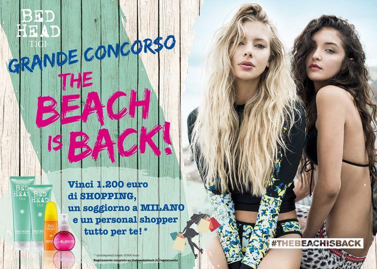 """Sii protagonista del Grande Concorso """"The Beach is Back"""" , tutte le info per partecipare su thebeachisback.it"""