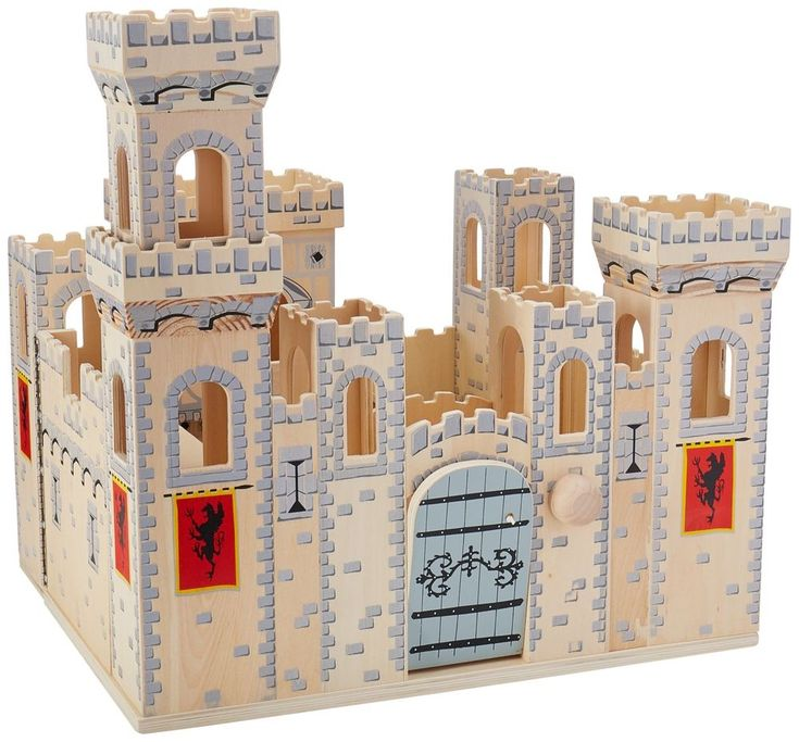 melissa doug deluxe folding medieval wooden castle hinged for compact storage - Multi Castle Ideas